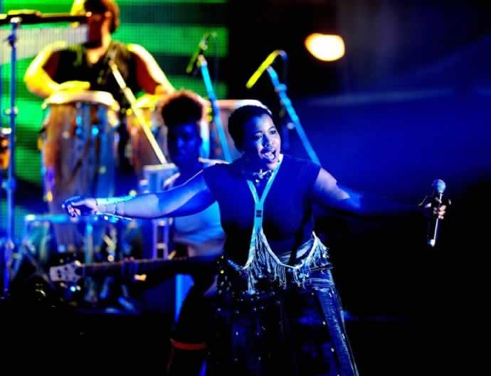Thandiswa Mazwai in concert at the Macufe Festival 2013